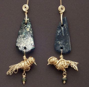 Primitive Gold Birds by WiredElements