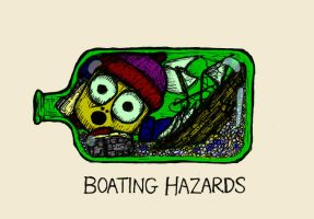 Boating -Fathers Day Card by billiambabble