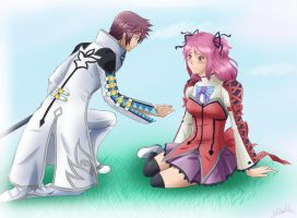 ToG: Asbel and Cheria by xSilverDragoonx