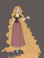 Punzel Design - Rapunzel by djeffers