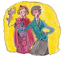Genderbended Holmes and Watson by jossujb