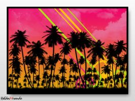 Sunset Palms by helder