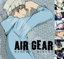 Air Gear- Kazu by thecomputerison