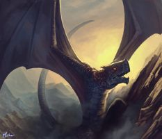 Umbral Drake by cmalidore