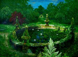 garden pond by rodulfo