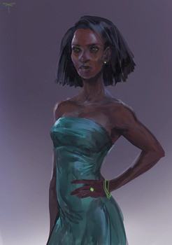 Lady In Teal by telthona