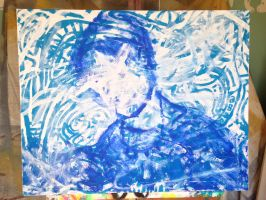Untitled in Blue and White by MegaBunneh