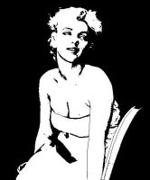 Marilyn Monroe Stencil by Kerblotto