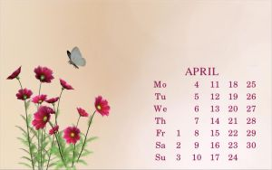April 2011 Calendar by GypsyH