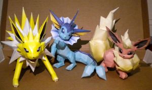 1st Gen eevolutions by jewzeepapercraft