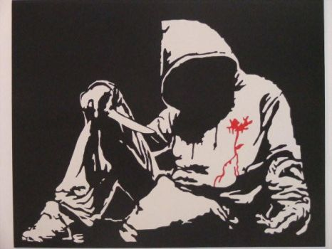 Banksy Hoody canvas by robwoolly