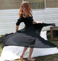 Black Dress Spin Stock 1 by Gracies-Stock