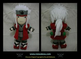 Jiraiya Plush by renealexa-plushie