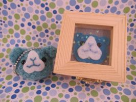 Blue Guinea Pig Keychain + Box by AmiTownCreatures