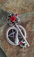 Pentacle Guardian Fantasy Key by ArtByStarlaMoore