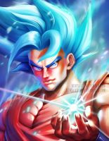 Goku Super Saiyan God 2 by HentaiChimp