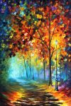 Fog Alley oil painting by Leonid Afremov by Leonidafremov