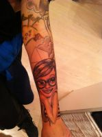 Girl Sleeve (my gf's arm) by Lucifine666