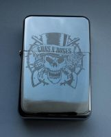 GUNS'N'ROSES - engraved lighter by Piciuu