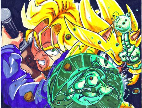 ssj trunks and super silver CL by trunks24