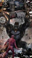 Flash v Grodd by uncannyknack
