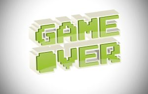 3D Arcade text GAME OVER by Grekki