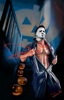 Michael Myers Halloween Hunks of Horror Pinup by Cordy5by5