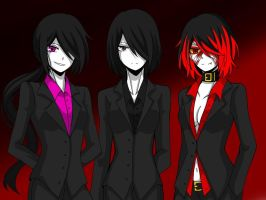 If the main 3 were Bodyguards... by CNeko-chan