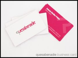quesabenadie business card by Morillas