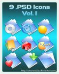 9 .PSD Icons Vol. 1 by Wearwolfaa