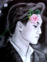 Flower Boy Kai (Drawing) by diamondnura
