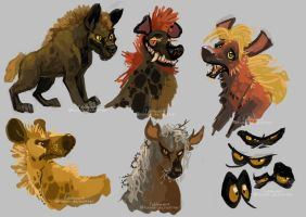 Hyenas by FablePaint