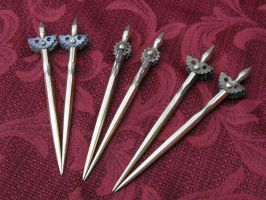 steam punk ladies hair sticks by Licataknives