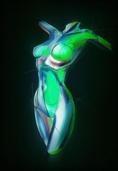 Abstract Female Body by psygameboy