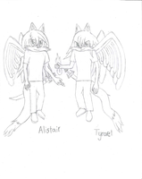 Alistair and Tyrael [Sketch] by Frozenvolf