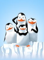 THE PENGUINS (of Madagascar) speed painting +video by IDROIDMONKEY