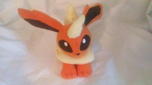 Flareon Beanie Plushie (Pic 1) by KahleyCreations