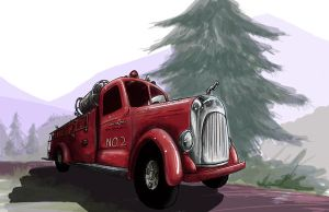 Red Fire Truck by Sterfry7