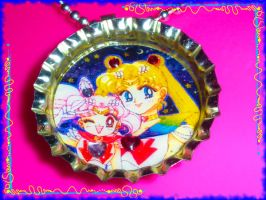 SM bottle cap pendant by Delirious-Lolita
