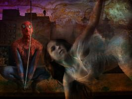 Spidey and the lost girl by BigA-nt
