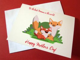 Mothers day card by squidbrains
