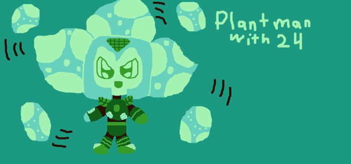 Color Pallet Challenge: Plant Man with 24 by Kittygames50