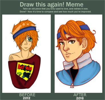 Draw this again! Meme (Character redesign) by TinyTimelord