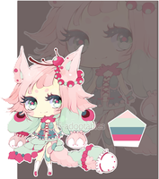 [CLOSED] Adopt Auction 02 : Green and Pink by Piffi-adoptables