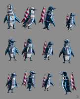 Penguin army by inkjava