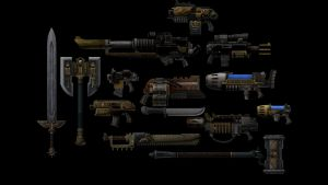 3ds Max Release! Space Marine Weapons by Merytaten-tasherit