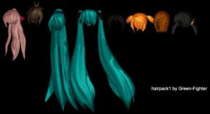 MMD hairpack1+DL by Sefina-NZ