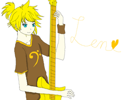 Len Playing the Bass by DemonMaster411