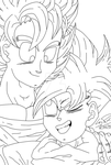 Father and Son LineArt by LonicHedgehog