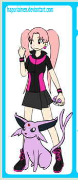 Raven the Pokemon trainer with Espeon by RoyalRaven99